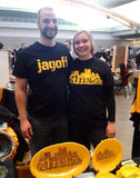 Jagoff T-shirt Pittsburgh Black and Gold jag off Tee Local Design Locally Printed - Pittsburgh Pottery