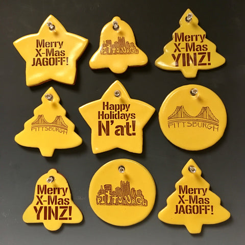 Pittsburgh Christmas Tree Ornaments - Pittsburgh Pottery