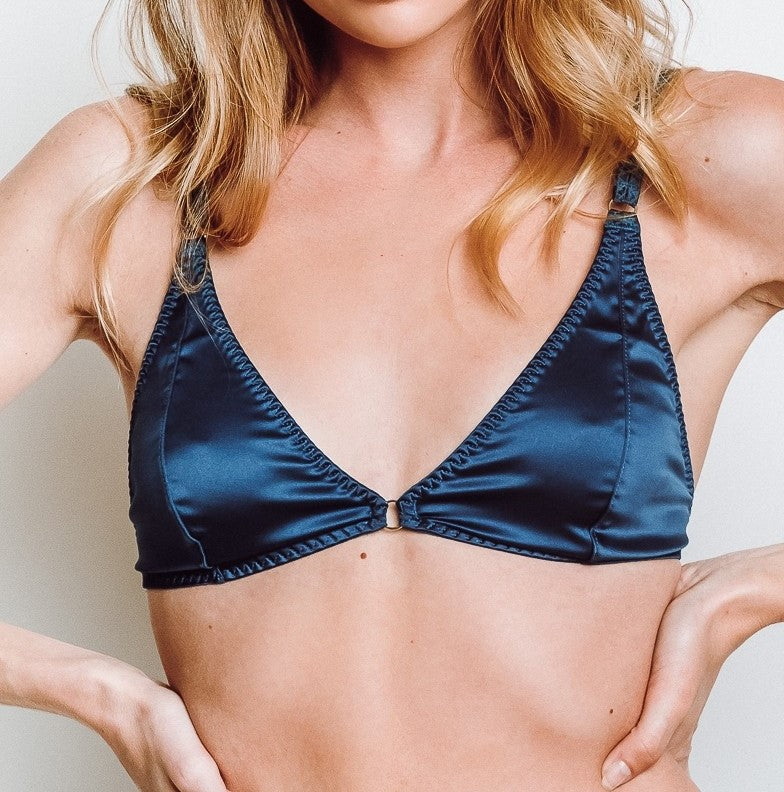 1287f32b1e84 Free People Can't Stop Me Soft Bra Navy
