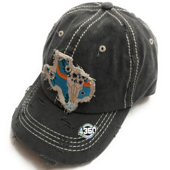 4350 District Texas Hat Black
