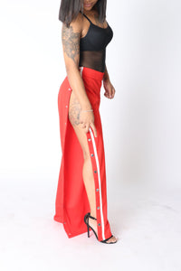 Red Hang On Track Pant