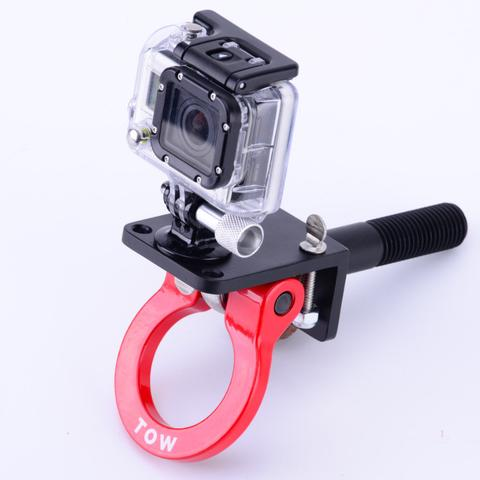 Tow hook camera mount