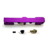 Honda Civic D Series GEM Fuel Rails-Fuel Rails-Purple-OEM Banjo Fitting + 3/4 Boss Plug-GoldenEagleMfg