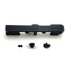Honda Civic D Series GEM Fuel Rails-Fuel Rails-Black-6AN Fitting + 3/4 Boss Plug-GoldenEagleMfg