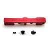 Honda Civic D Series GEM Fuel Rails-Fuel Rails-Red-6AN Fitting + 3/4 Boss Plug-GoldenEagleMfg