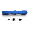 Honda Civic D Series GEM Fuel Rails-Fuel Rails-Blue-6AN Fitting + 3/4 Boss Plug-GoldenEagleMfg