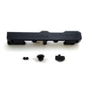 Honda Civic D Series GEM Fuel Rails-Fuel Rails-Black-8AN Fitting + 3/4 Boss Plug-GoldenEagleMfg