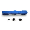 Honda Civic D Series GEM Fuel Rails-Fuel Rails-Blue-8AN Fitting + 3/4 Boss Plug-GoldenEagleMfg