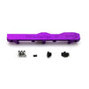 Honda Prelude H Series GEM Fuel Rail-Fuel Rails-Purple-8AN Fitting + 3/4 Boss Plug-GoldenEagleMfg
