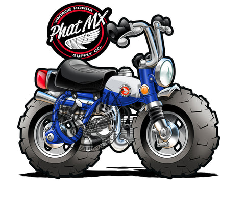 Honda Z50 Blue 1969  Decal / Sticker