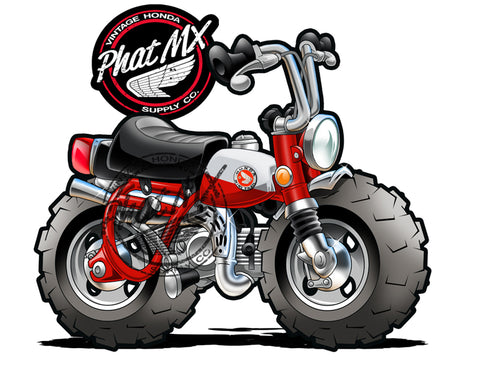 Honda Z50 Red 1969  Decal / Sticker