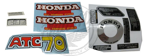 ATC70 1978 Decal Kit (special Order)