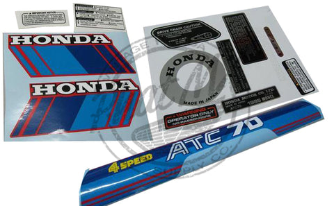 (Temp sold out) ATC70 1985 Decal Kit