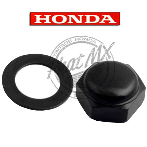 OEM Honda Black Steering Stem Nut/Washer