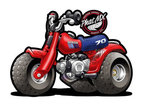 Honda ATC70 1985  Decal / Stickers