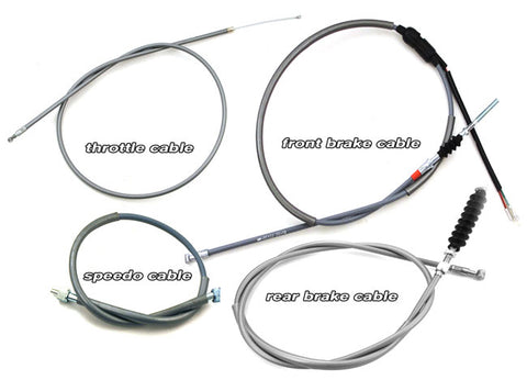 (Temp sold out speedo/throttle) CT70 Cables K1-K3 (1972-74)