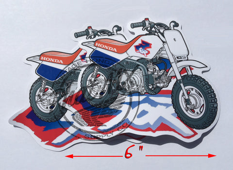 Honda Z50R Decal