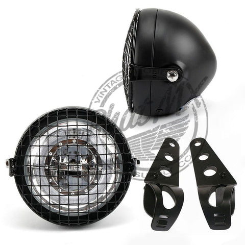 12V LED Black Metal Headlight Kit