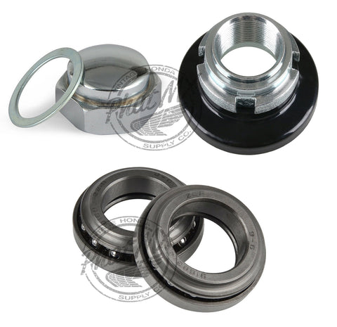 Steering Stem Nut, Fork Nut & Bearing Kit