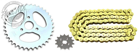 Z50 Sprocket Set Gold Chain