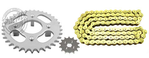 ATC70 Sprocket Set Gold Chain