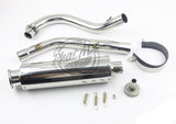 High Swept Stainless Straight Exhaust #12