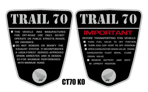 CT70 Side Badge