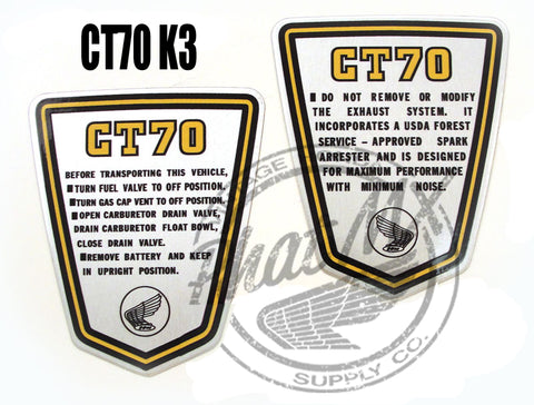 CT70 Side Decals