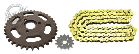 (temp sold out - eta july 15) Z50R Sprocket Set Black-Gold