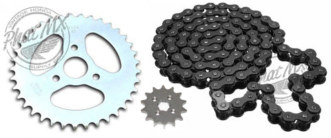 Z50 Sprocket Set Black Chain