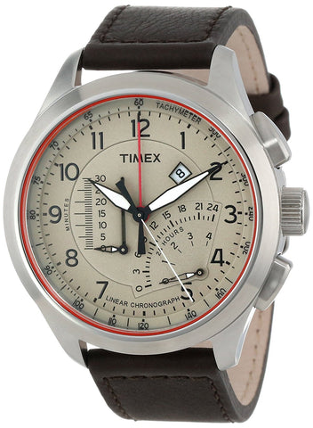 Timex Adventure Series Leather Chronograph Watch T2P275