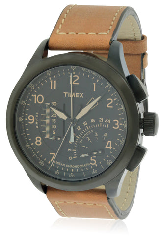 Timex Adventure Series Leather Chronograph Watch T2P277