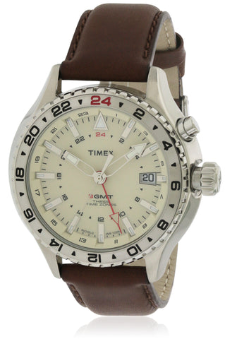 Timex Leather Watch T2P426