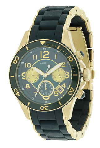 Marc by Marc Jacobs Rock Matte Teal Silicone Chronograph Watch MBM2597
