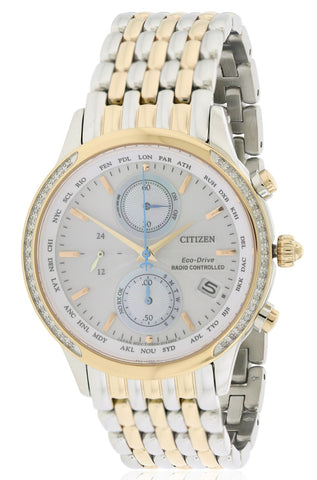 Citizen Eco-Drive World Chronograph A-T Atomic Watch FC5006-55A