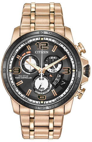 Citizen Eco-Drive World Chronograph A-T Rose Watch BY0108-50E