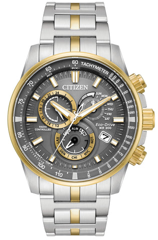 Citizen Eco-Drive Two-Tone Chronograph Watch AT4124-51H