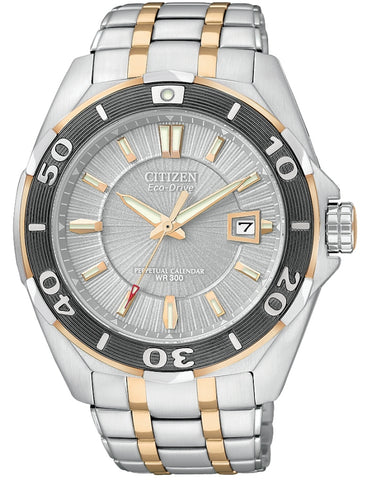 Citizen Signature Eco-Drive Perpetual Calendar Mens Watch BL1254-54A