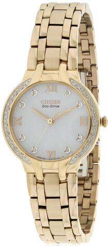 Citizen Eco-Drive Bella Crystal Stainless Steel Watch EM0123-50A