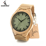 BOBO BIRD Leather Bracelet and Japanese Quartz Movement Wooden Watch