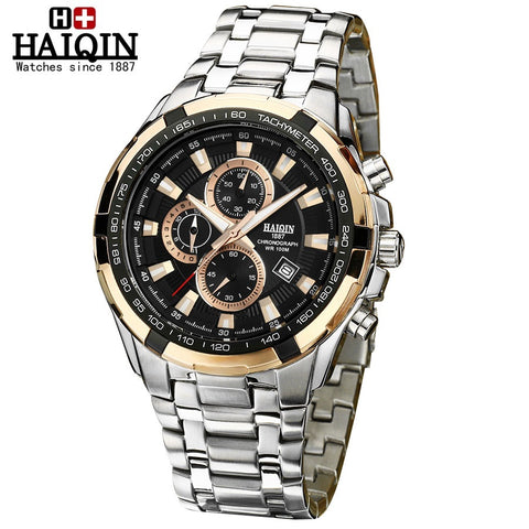 HAIQIN 9036 Waterproof Luminous Stainless Steel Luxury Watch