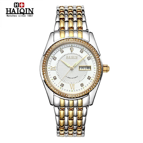 HAIQIN 9004T Luxury Automatic Sapphire Stainless Steel Watch