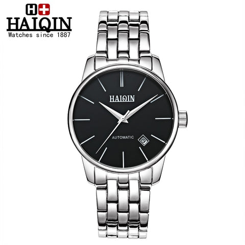 HAIQIN 9009BA Stainless Steel Mechanical Watch