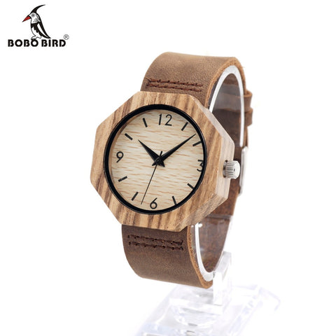 BOBO BIRD D03 Wooden Bracelet Bangle Quartz Watch