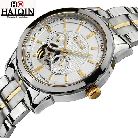 HAIQIN 9106 Luxury Automatic Mechanical Waterproof Watch