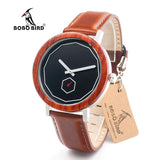 BOBO BIRD M28 Rose Sandalwood With Metal Analog Quartz Watch