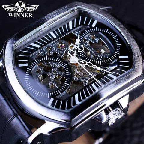 T-Winner GMT911 Retro Classic Designer Silver Stainless Steel Case Men Luxury Mechanical Automatic Watch