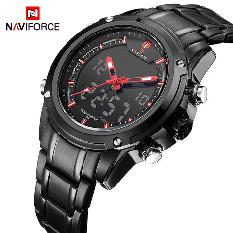 NAVIFORCE NF9050B Luxury Sports Army Military Men's Quartz Analog LED Waterproof Watch