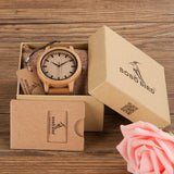 BOBO BIRD A16 Analog Bamboo Wooden Watch