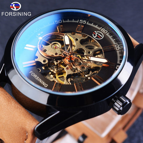 Forsining GMT1019 Sport Luxury Mechanical Skeleton Watch